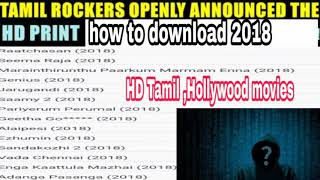 Tamilrockers openly announced HD latest tamil movie download in your uc browser and easy method.