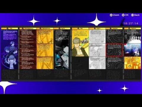 Persona 4 Golden ALL Bonus TV Listing