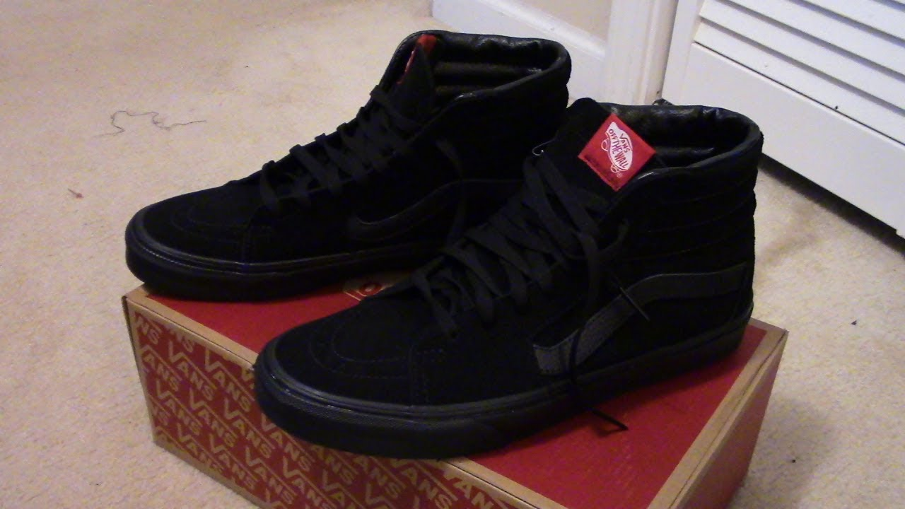 fc6f2aedfd VANS SK8-HI Black Black (Suede) Review + On Feet - YouTube