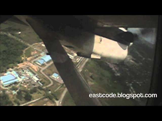fun ride on a twin engine propeller plane  Bario kelabit highland to Miri city Sarawak Travel Video