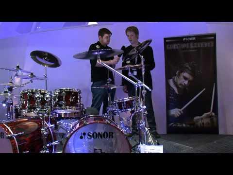 Musikmesse 2011 Sonor Drums Christoph Schneider Rammstein
