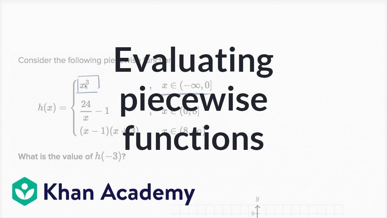hight resolution of Worked example: evaluating piecewise functions (video)   Khan Academy
