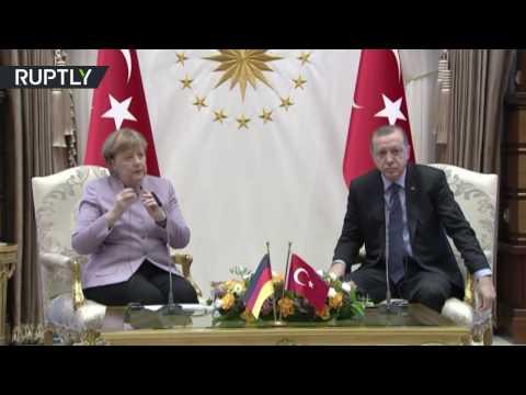 'Islam means 'peace', it can't come with 'terror': Erdogan slams Merkel for 'Islamist terror' phrase