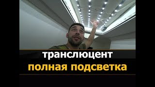 ✅⭐  Натяжной потолок с полной (сплошной) подсветкой   Натяжные потолки в Костроме - Мне Потолок