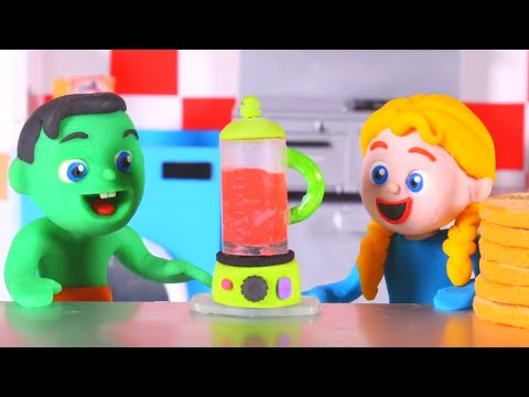 Kids Cooking A Delicious Cake At Home ❤ Cartoons For Kids