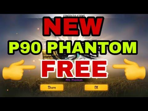 Free Fire New Weapon Royale P90 SKIN    P90 PHANTOM   How To Get Permanent P90 Gun Skin Free