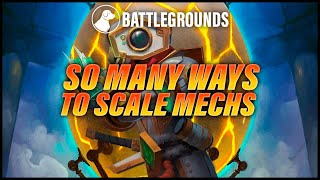 So Many Ways to Scale Mechs Now | Dogdog Hearthstone Battlegrounds