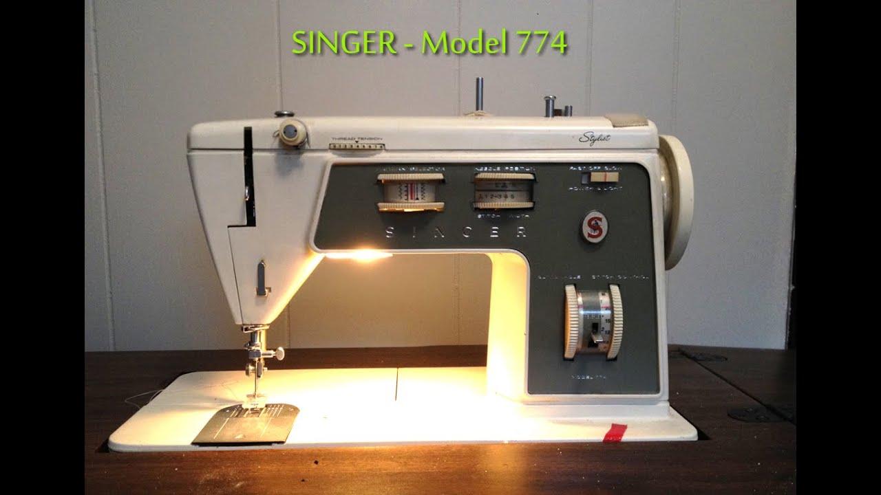 singer sewing machine repair model 774 youtube. Black Bedroom Furniture Sets. Home Design Ideas