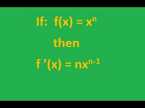 Calculus : Basic Power Rule Examples