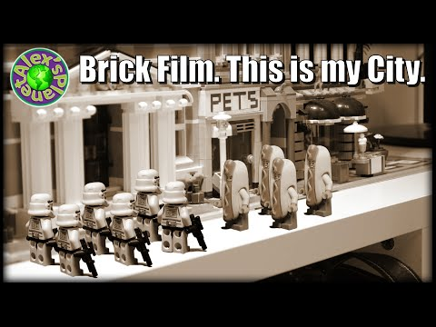 Lego War for the Lego City. This is my City. Lego Stop Motion Animation. | ALEXSPLANET