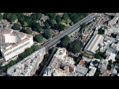 Cimetière de Montmartre vu du ciel
