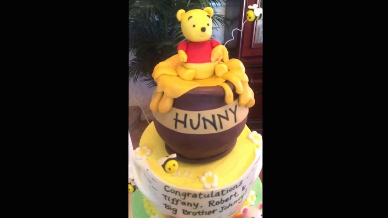 Winnie The Pooh Baby Shower Cake Youtube