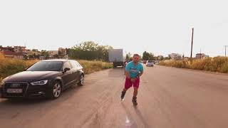 Rollerblade chased by Drone - Active Track Mode