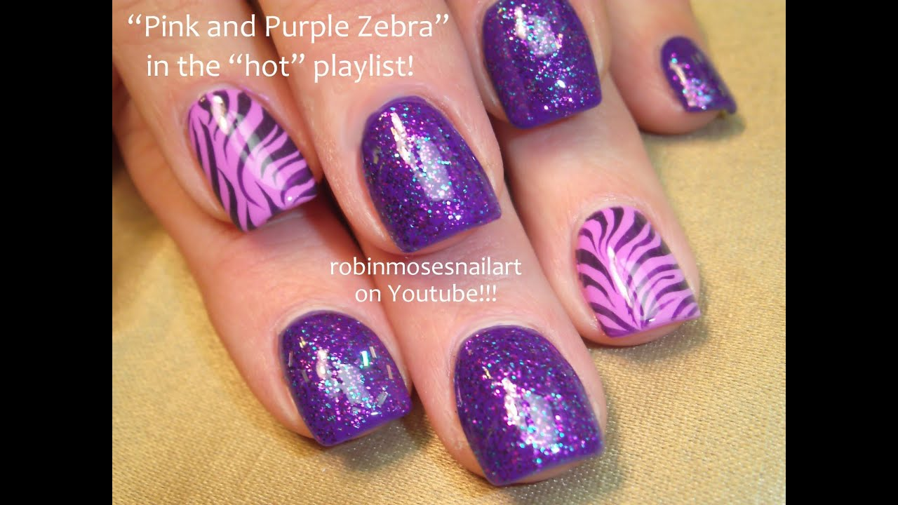 2 Nail Art Tutorials Easy Nail Art For Beginners Pink And Purple