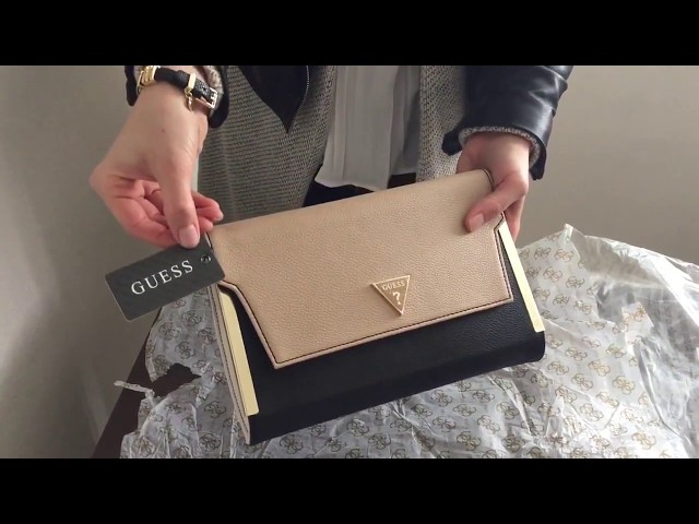 Guess Amira Metal Bar Clutch | Guess Bags