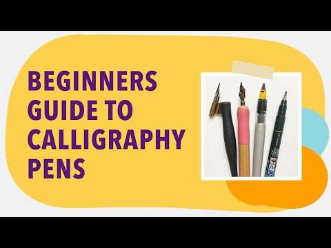 Choosing Your First Calligraphy Pen - Calligraphy Pens For Beginners