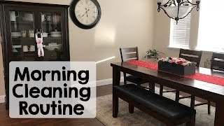 Morning Cleaning Routine with Baby | Speed Clean | Winter 2017