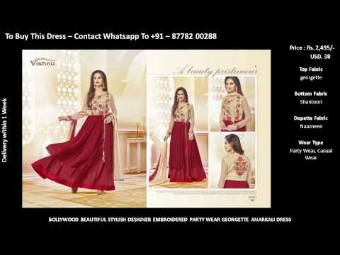 Buy online dress - Modern Fashionable Embroidered Party wear Anarkali dress design