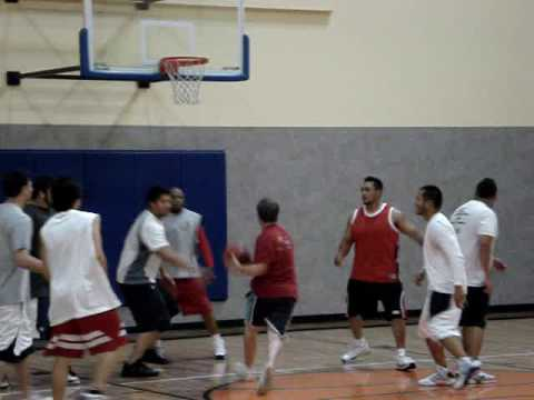 24 Hour Fitness Basketball in Mountain View, CA. Lowlights (May 5, 2009)