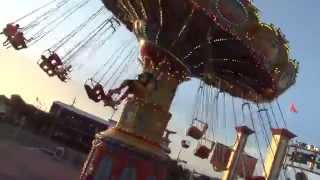Swing Ride Merry Go Round at Pleasure Pier, Texas