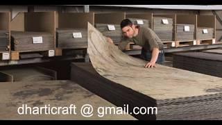 Flexible thin lite slate stone veneer sheets