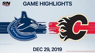 NHL Highlights   Canucks vs. Flames - Dec. 29, 2019