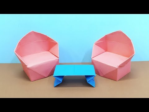 How To Make Sofa With Color Paper | DIY Paper Toys Making | Paper Furniture