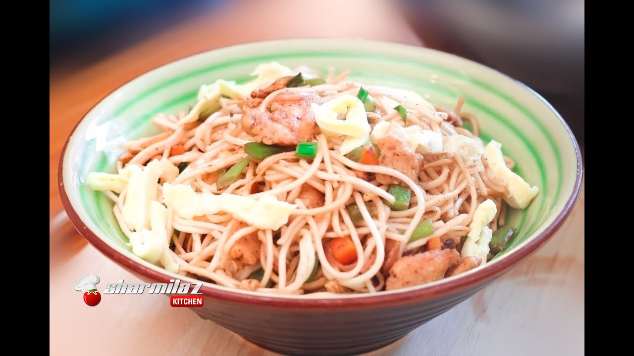 Chinese chicken hakka noodles by sharmilazkitchen youtube chinese chicken hakka noodles by sharmilazkitchen forumfinder Image collections