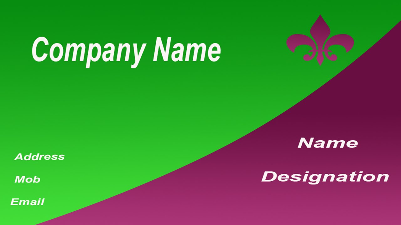 How to create a business card in photoshop in tamil with esubs how to create a business card in photoshop in tamil with esubs youtube reheart Gallery