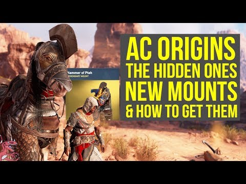 Assassins Creed Origins DLC NEW MOUNTS & How To Get Them!  The Hidden Ones AC Origins DLC