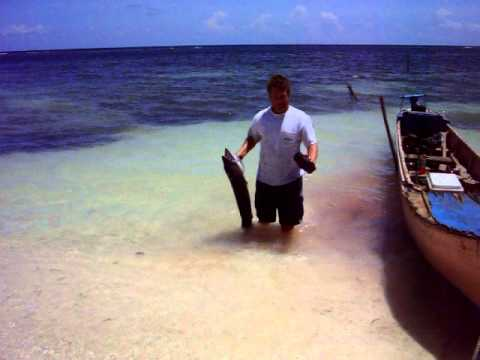 Hand Reel Fishing  -- Utila, Honduras