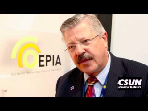 CSUN Solar Energy Interviews - European Photovoltaic Industry Association, Dr. Winfried Hoffmann