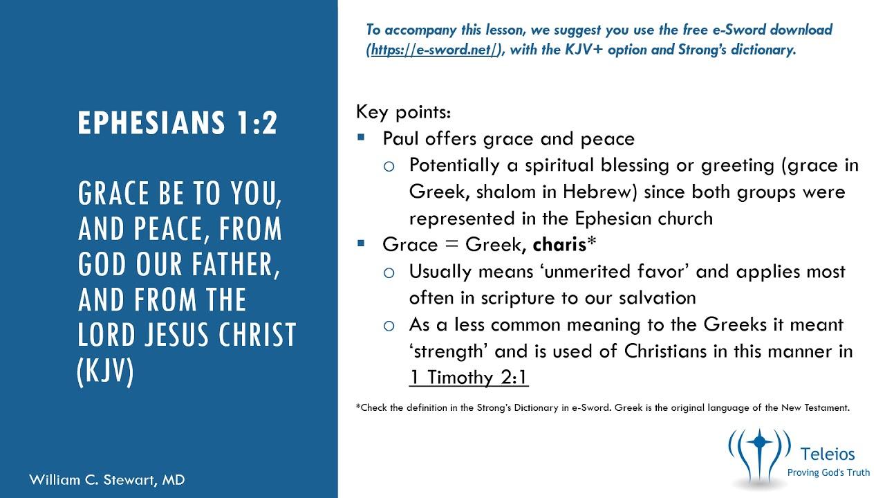 Teleios U: Verse By Verse Bible study - Teleios, Inc