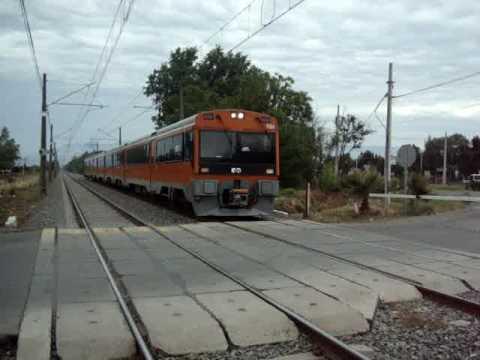 Metro Tren Llegando A Estación Buin Zoo, InterCity Metro Train