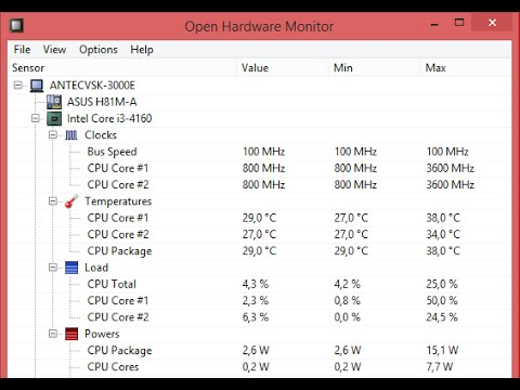 Open Hardware Monitor, a free tool to analyse your computer