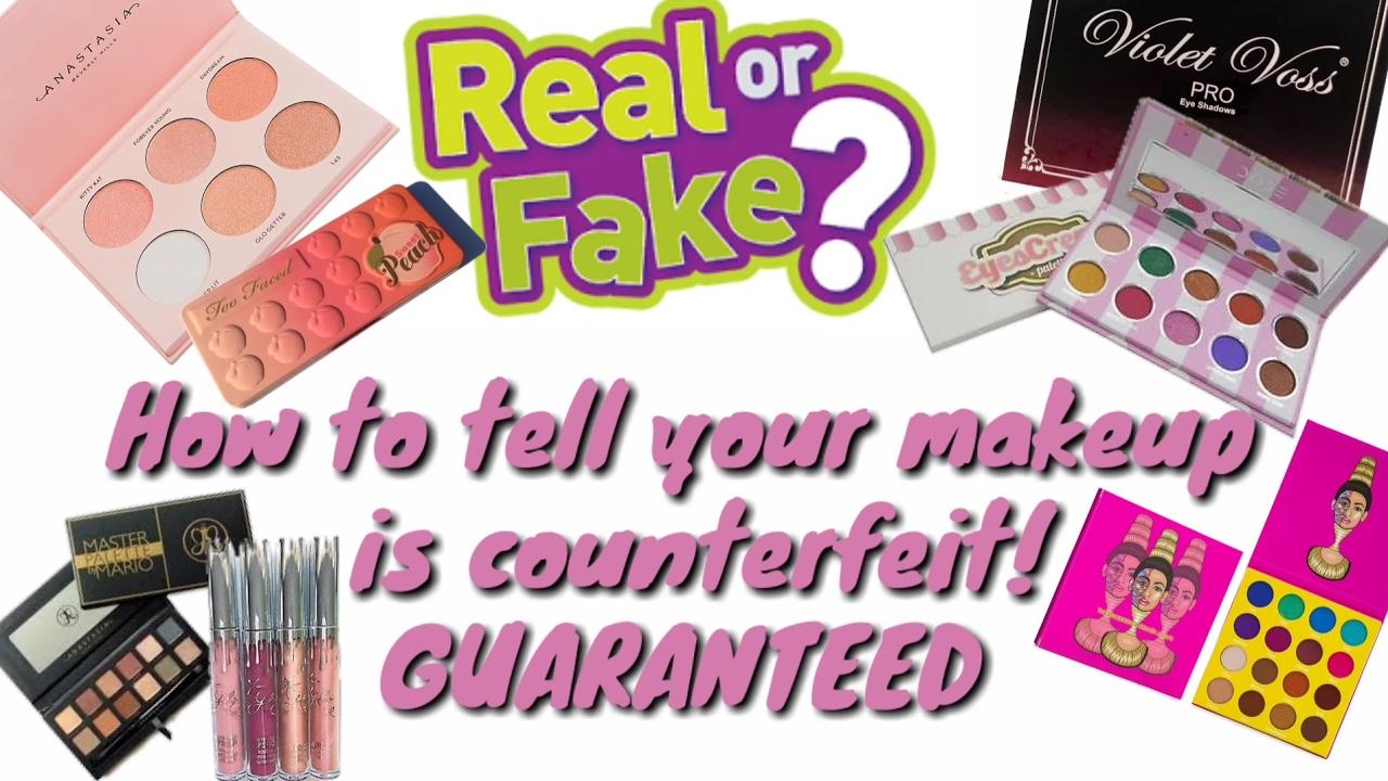 Guaranteed way to know you received counterfeit makeup ( high end makeup)