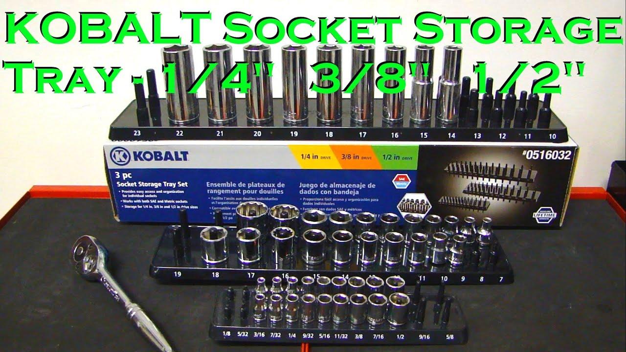 KOBALT 3 Piece Socket Storage Tray Set   Review