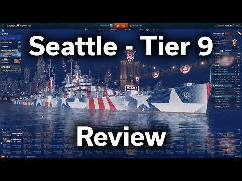 World of Warships - Seattle - Tier 9 - American Light Cruiser - Review