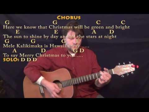 Mele Kalikimaka (Christmas) Country Guitar Chord Chart in G with Chords/Lyrics