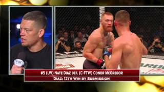 Nate Diaz discusses win over Conor McGregor (WARNING: Explicit Content)