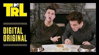 The Dolan Twins Try to Eat Weird British 'Bites'   TRL Weekdays at 4pm
