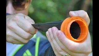 Как сделать рогатку из горлышка от бутылки и шарика ?
