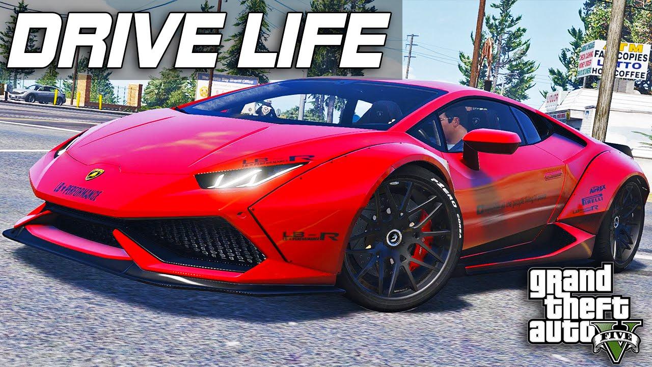 GTA 5 Drive Life #10 - Lamborghini LP-610!