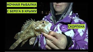 Рыбалка с берега в Крыму Ночная скорпена морской ерш