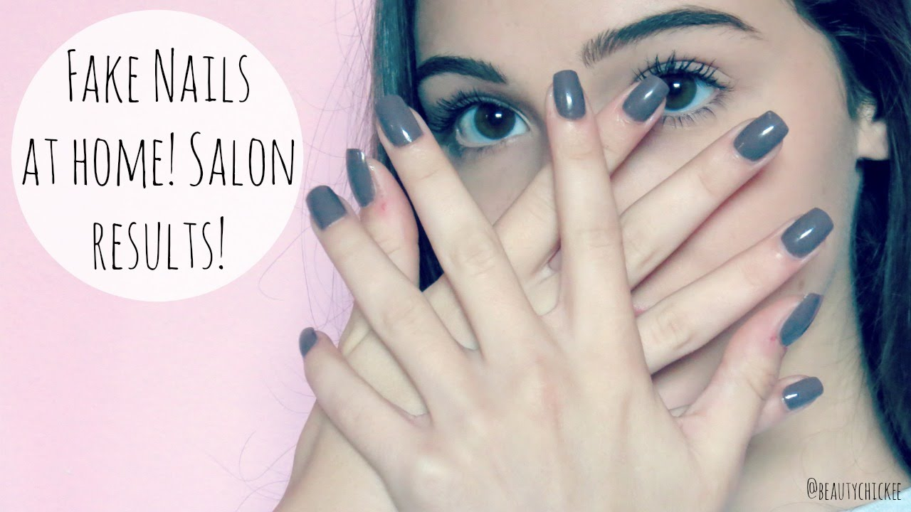 DIY Fake Nails At Home: Salon Results || BeautyChickee - YouTube
