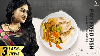 Pan Fried Fish and Sauteed veggies | Cook with VV | Live | Vanitha Vijaykumar