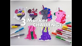 3 Marker Challenge with my Friend ❀ Emily's Small World ❀