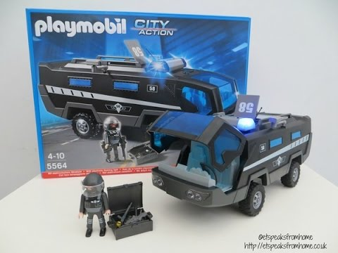 Playmobil city action swat command vehicle 5564 review youtube - Playmobil camion police ...