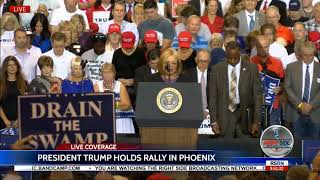 Martin Luther King Jr.'s Niece, Dr. Alveda King Speaks at President Trump Rally in Phoenix 8/22/17