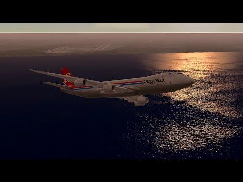 Infinite Flight Cargolux Boeing B747 - 8 KLAX - KSAN